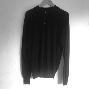Merino Wool Silk Cashmere Sweater L